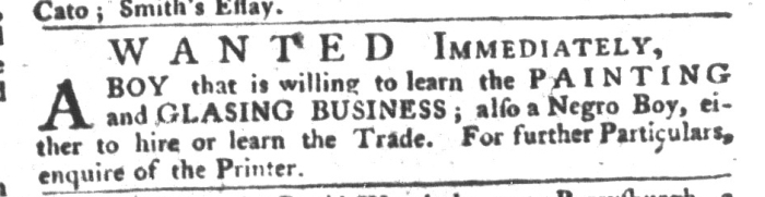Feb 2 - South-Carolina Gazette and Country Journal Supplement Slavery 14