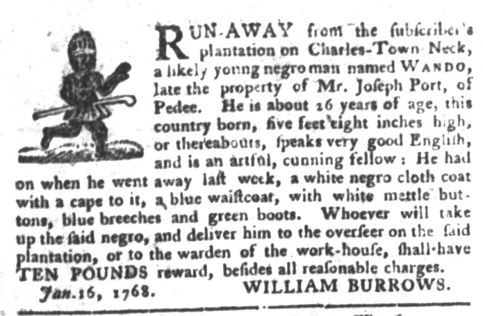 Feb 2 - South-Carolina Gazette and Country Journal Supplement Slavery 6