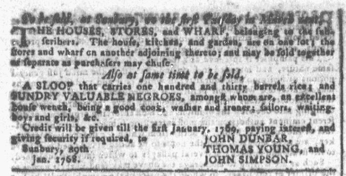 Feb 3 - Georgia Gazette Slavery 1