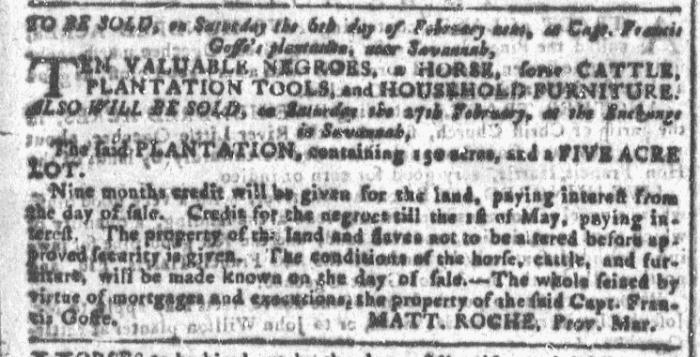 Feb 3 - Georgia Gazette Slavery 3