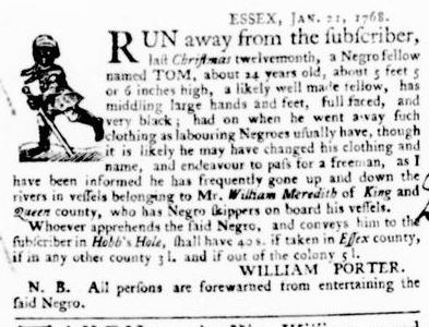 Feb 4 - Virginia Gazette Purdie and Dixon Slavery 6