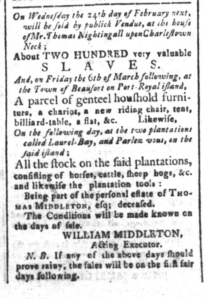 Feb 5 - South-Carolina and American General Gazette Slavery 9