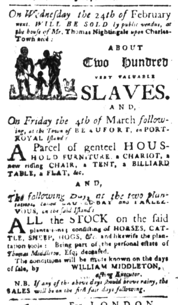 Feb 8 - South Carolina Gazette Slavery 4