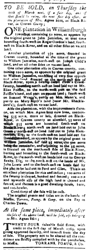 Feb 8 - South Carolina Gazette Slavery 8