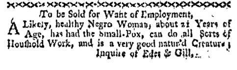 Jan 11 - Boston-Gazette Slavery 1
