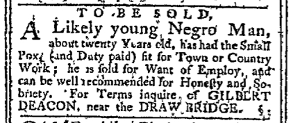 Jan 11 - Pennsylvania Chronicle Slavery 1