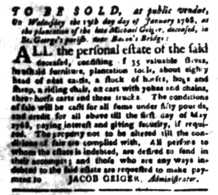Jan 11 - South Carolina Gazette Slavery 5