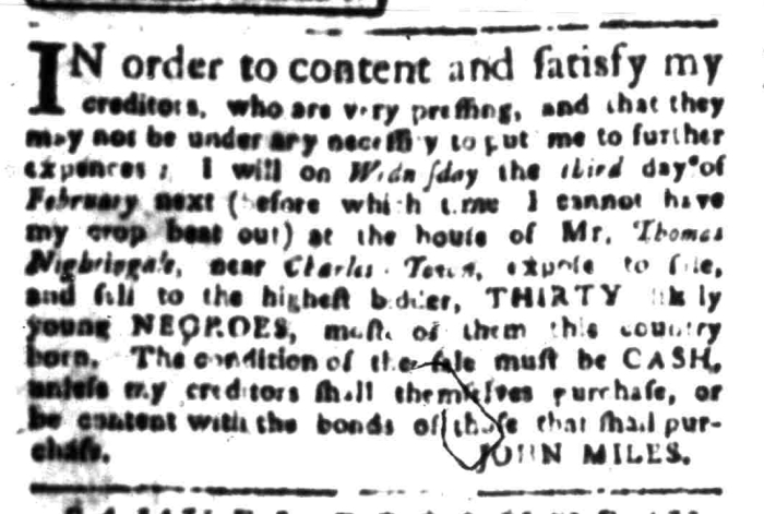 Jan 11 - South Carolina Gazette Slavery 6