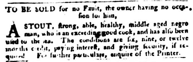Jan 12 - South-Carolina Gazette and Country Journal Slavery 5