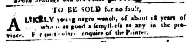 Jan 12 - South-Carolina Gazette and Country Journal Slavery 6
