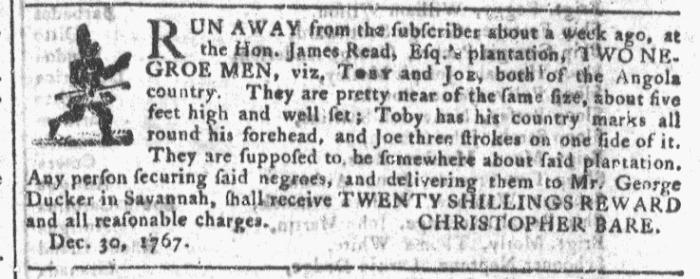 Jan 13 - Georgia Gazette Slavery 9