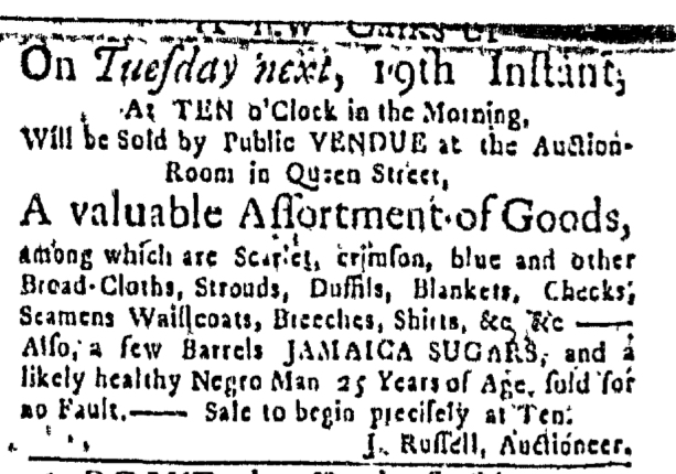Jan 14 - Massachusetts Gazette Slavery 1