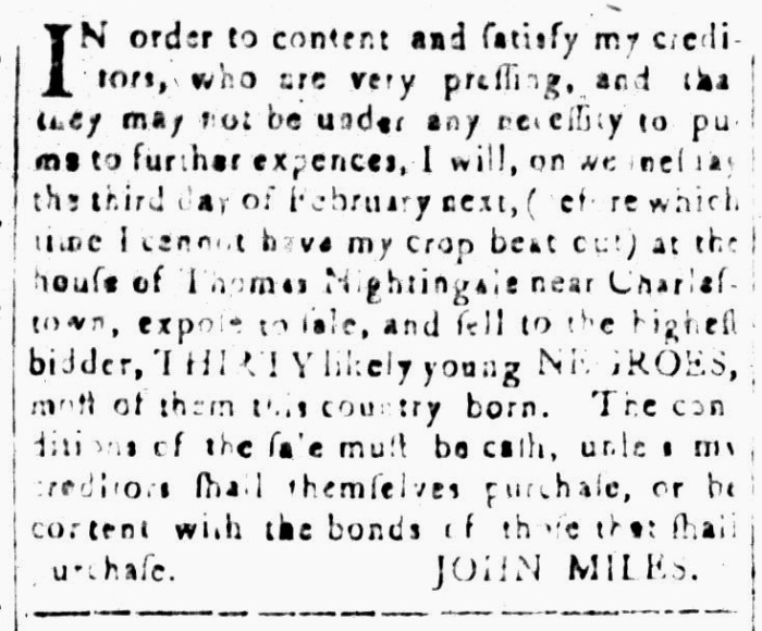 Jan 15 - South-Carolina and American General Gazette Slavery 12