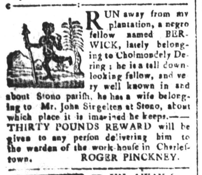 Jan 15 - South-Carolina and American General Gazette Slavery 5