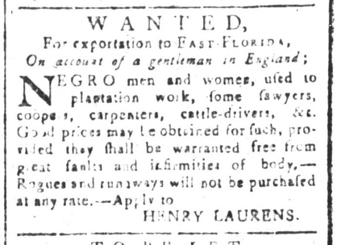 Jan 15 - South-Carolina and American General Gazette Slavery 7
