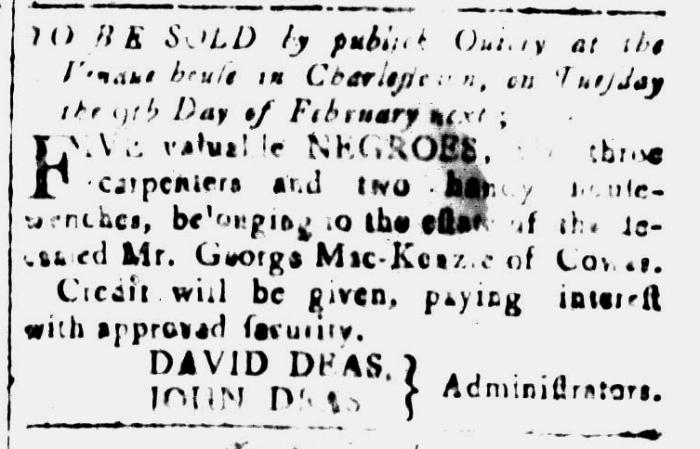 Jan 15 - South-Carolina and American General Gazette Slavery 9