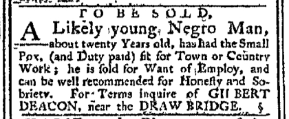 Jan 18 - Pennsylvania Chronicle Slavery 1