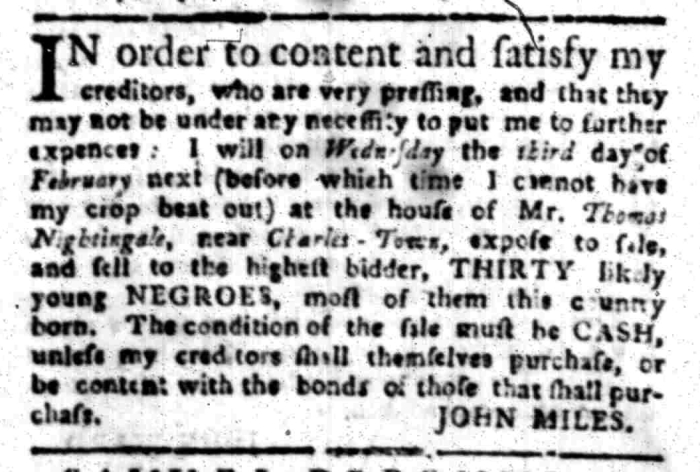 Jan 18 - South Carolina Gazette Slavery 8