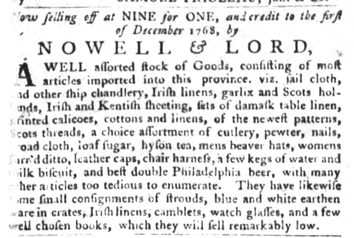 Jan 19 - 1:19:1768 South-Carolina Gazette and Country Journal