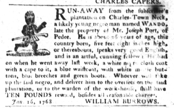 Jan 19 - South-Carolina Gazette and Country Journal Slavery 9