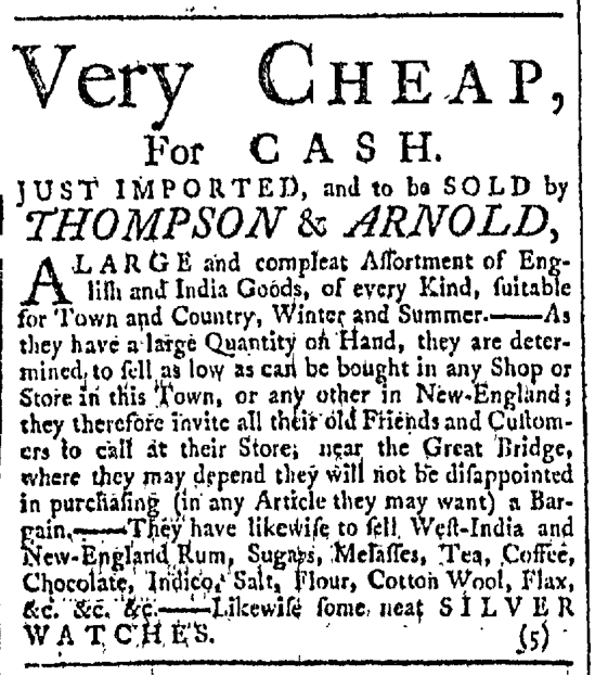 Jan 2 - 1:2:1768 Providence Gazette