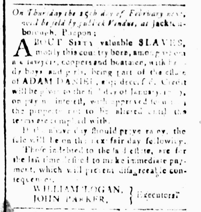 Jan 22 - South-Carolina and American General Gazette Slavery 11