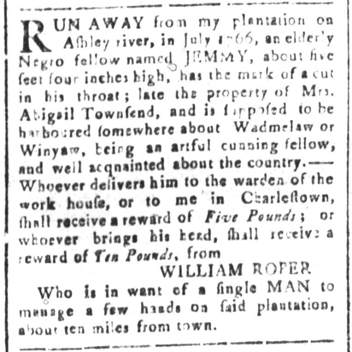 Jan 22 - South-Carolina and American General Gazette Slavery 2