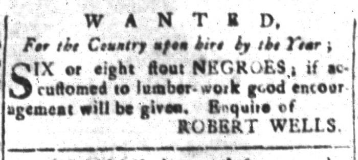 Jan 22 - South-Carolina and American General Gazette Slavery 7