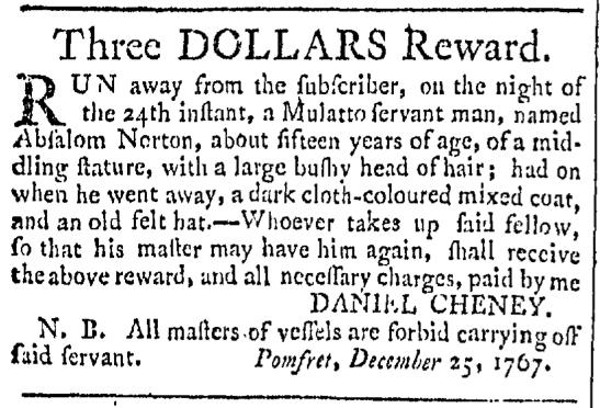 Jan 23 - Providence Gazette Slavery 1