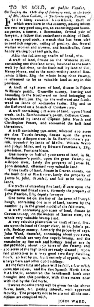 Jan 25 - South Carolina Gazette Slavery 9