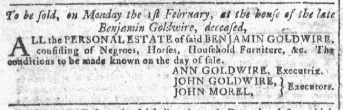 Jan 27 - 1:27:1768 Georgia Gazette