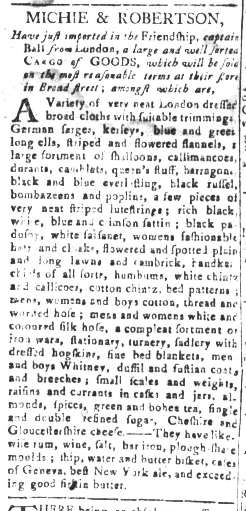 Jan 3 - 1:1:1768 South-Carolina and American General Gazette