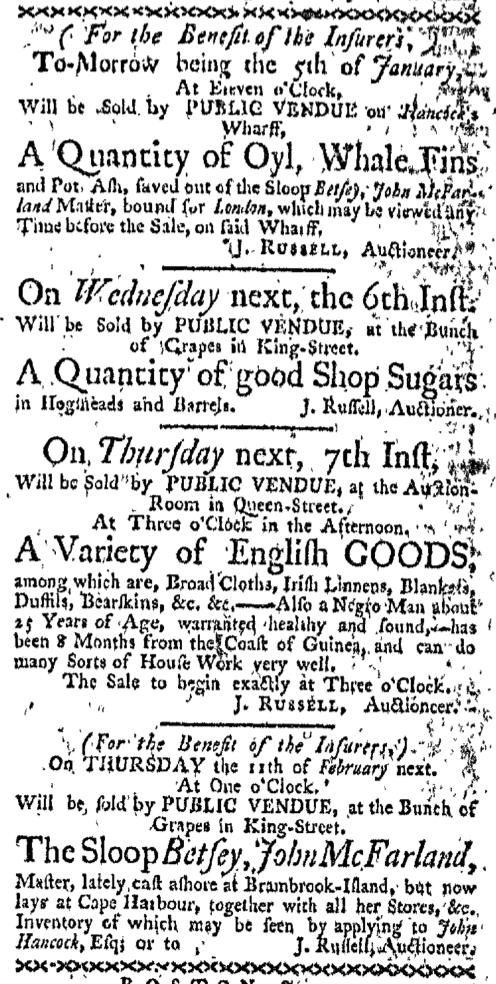 Jan 4 - Boston-Gazette Slavery 3