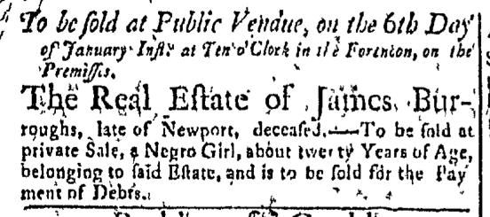 Jan 4 - Newport Mercury Slavery 1