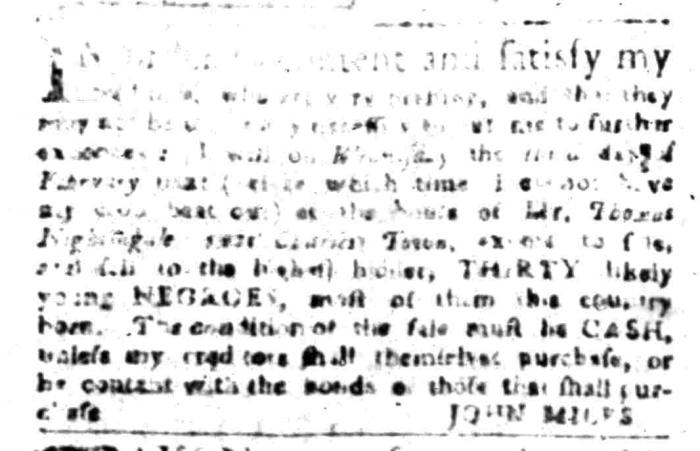 Jan 4 - South Carolina Gazette Slavery 2