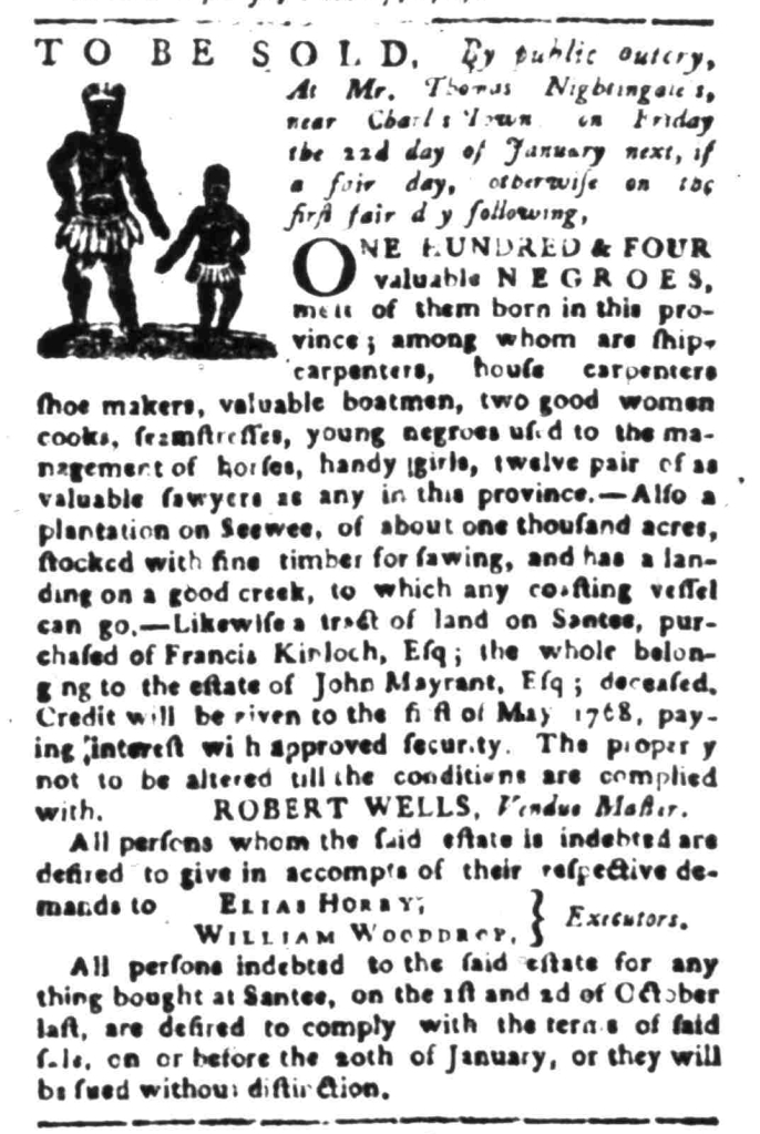 Jan 4 - South Carolina Gazette Slavery 5