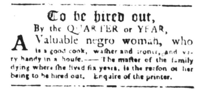 Jan 4 - South Carolina Gazette Slavery 7