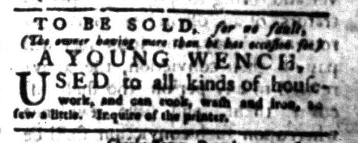 Jan 4 - South Carolina Gazette Slavery 9