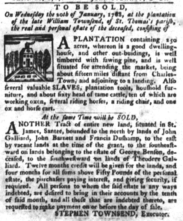 Jan 5 - South-Carolina Gazette and Country Journal Slavery 6