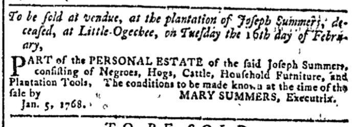 Jan 6 - Georgia Gazette Slavery 2