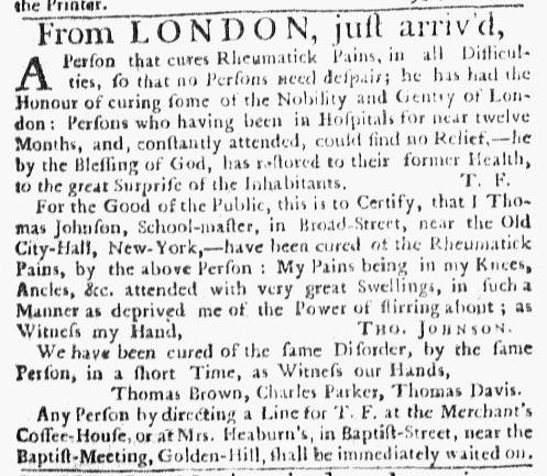 Jan 7 - 1:7:1768 New-York Journal