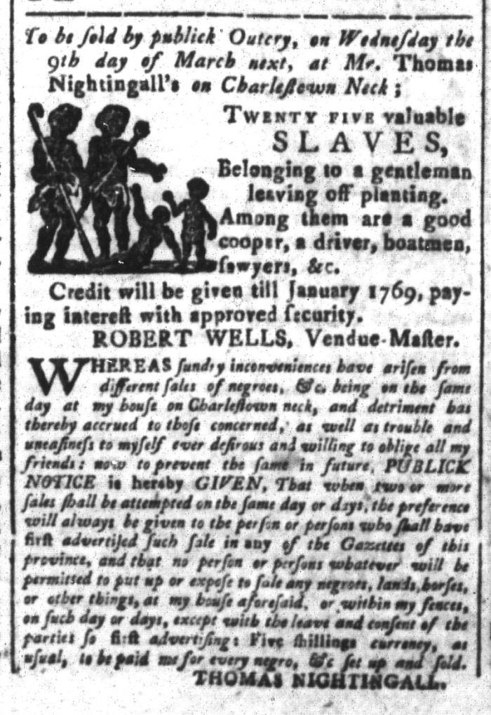 Feb 12 - South-Carolina and American General Gazette Slavery 3
