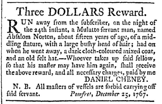 Feb 13 - Providence Gazette Slavery 2