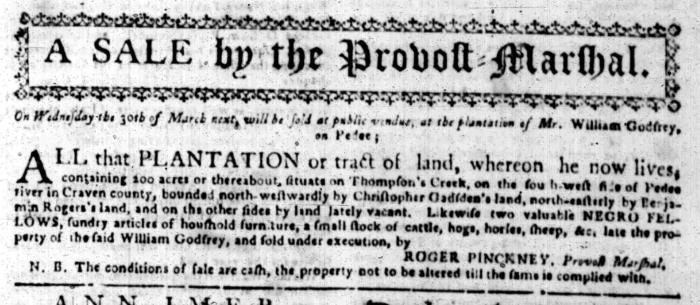 Feb 15 - South Carolina Gazette Slavery 2
