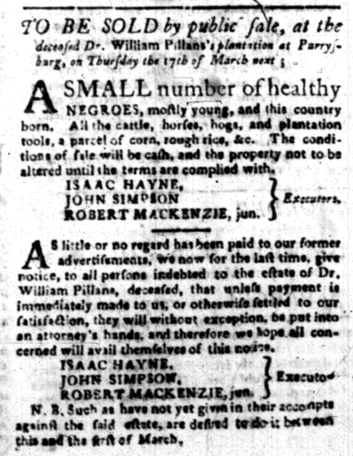 Feb 15 - South Carolina Gazette Slavery 5