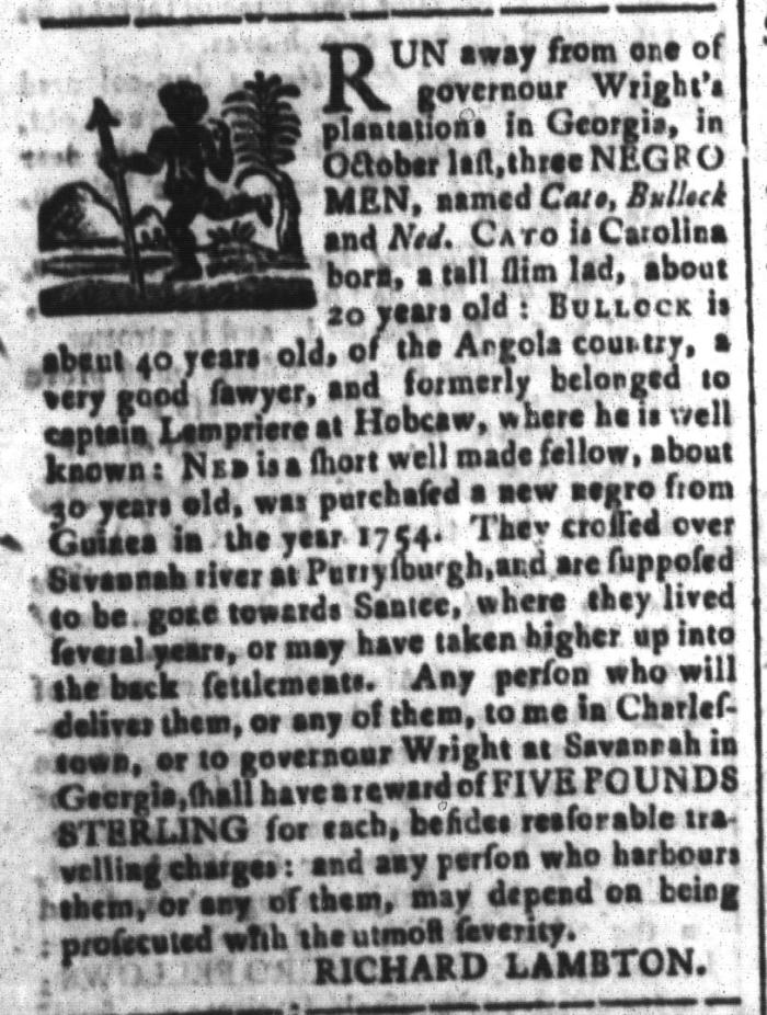 Feb 19 - South-Carolina and American General Gazette Slavery 10