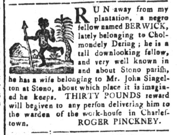 Feb 19 - South-Carolina and American General Gazette Slavery 13