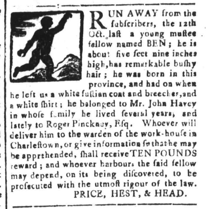 Feb 19 - South-Carolina and American General Gazette Slavery 14
