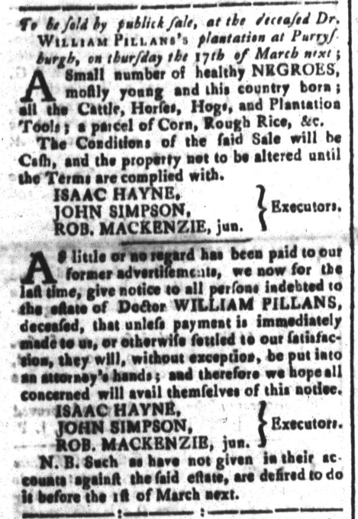 Feb 19 - South-Carolina and American General Gazette Slavery 9