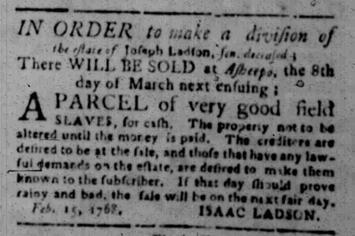 Feb 22 - South Carolina Gazette Slavery 11
